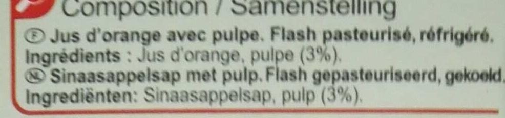 Orange pressée - Ingrediënten