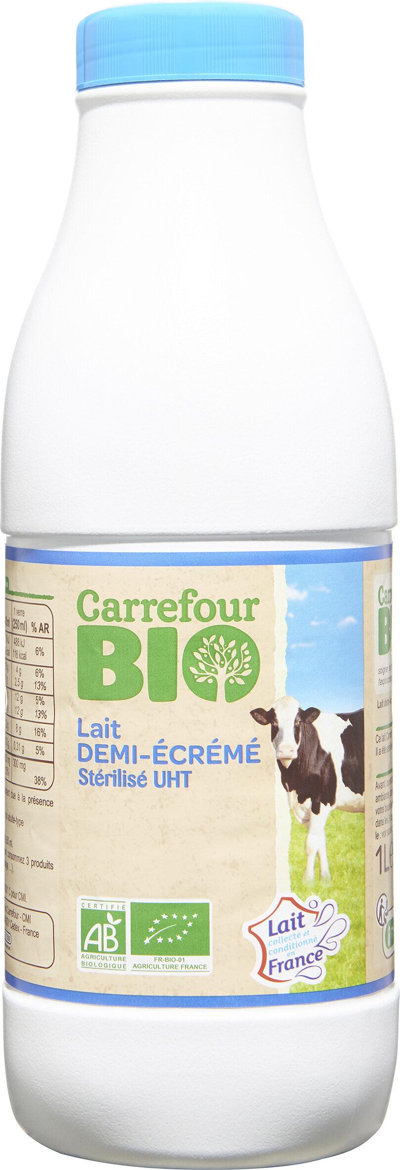 Lait demi-écrémé Stérilisé UHT - Product - fr