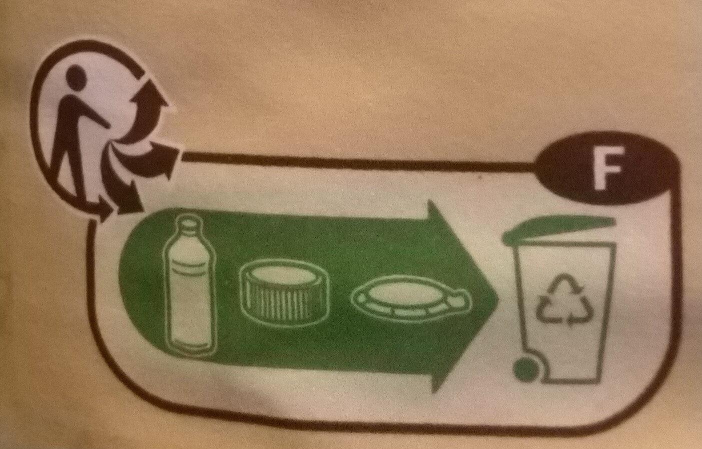 Lait demi-écrémé UHT - Istruzioni per il riciclaggio e/o informazioni sull'imballaggio - fr