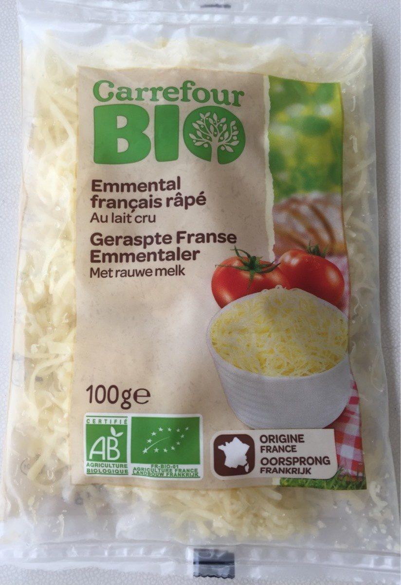 Emmental français râpé au lait cru Bio (30 % MG) - Product
