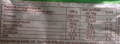 Beurre demi-sel bio - Nutrition facts - fr