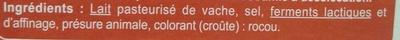 Le Pavé Ocre - Ingredients - fr