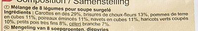 Mélange de légumes pour soupe - Ingrédients - fr