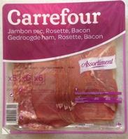 Assortiment Jambon sec, Rosette, Bacon - Produit - fr