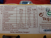 Yaourt brassé à la vanille - Voedingswaarden - fr