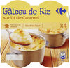 Gâteau de riz sur lit de caramel - Product