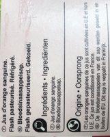 Jus d'orange sanguine - Ingredients