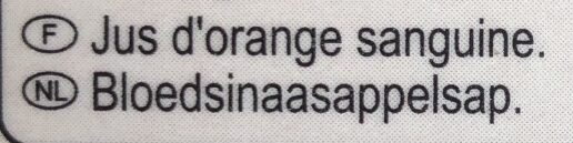 Jus d'orange sanguine - Ingredienti - fr