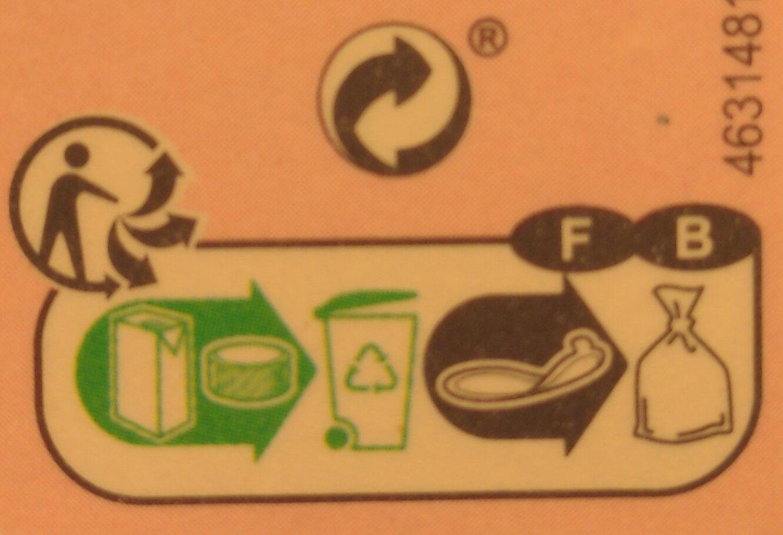 Jus d'orange sanguine - Istruzioni per il riciclaggio e/o informazioni sull'imballaggio - fr