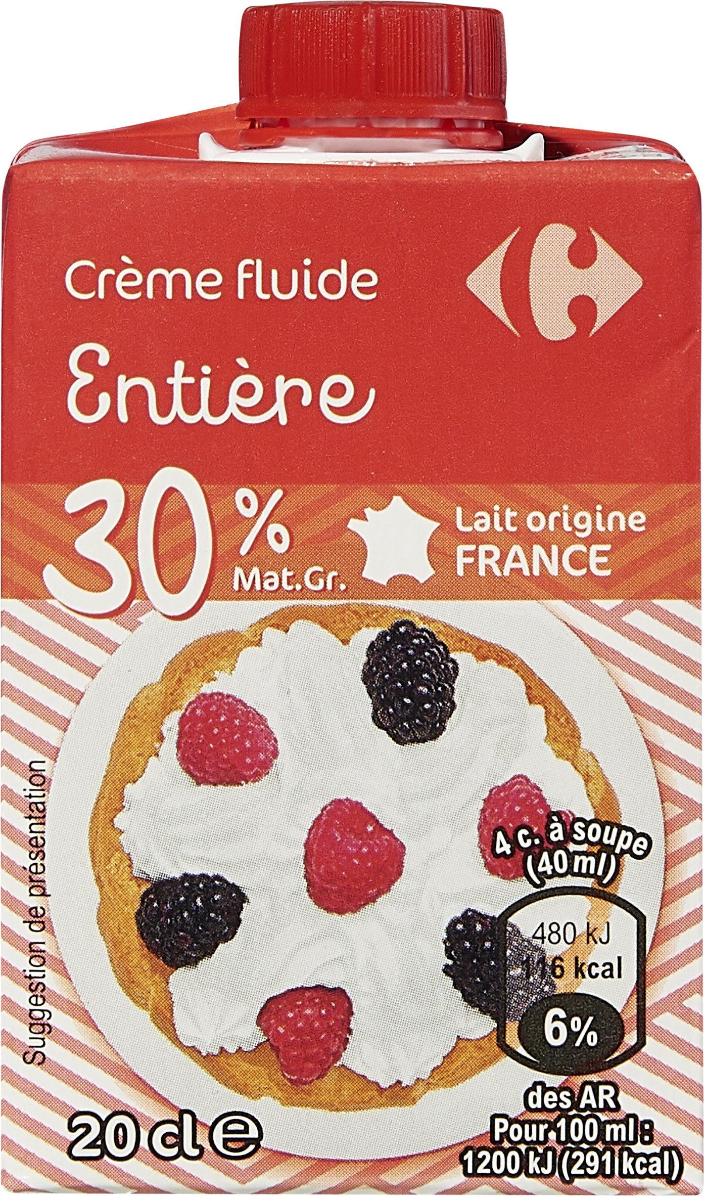 48e4f87147b Crème fluide Entière - Carrefour - 20 cl