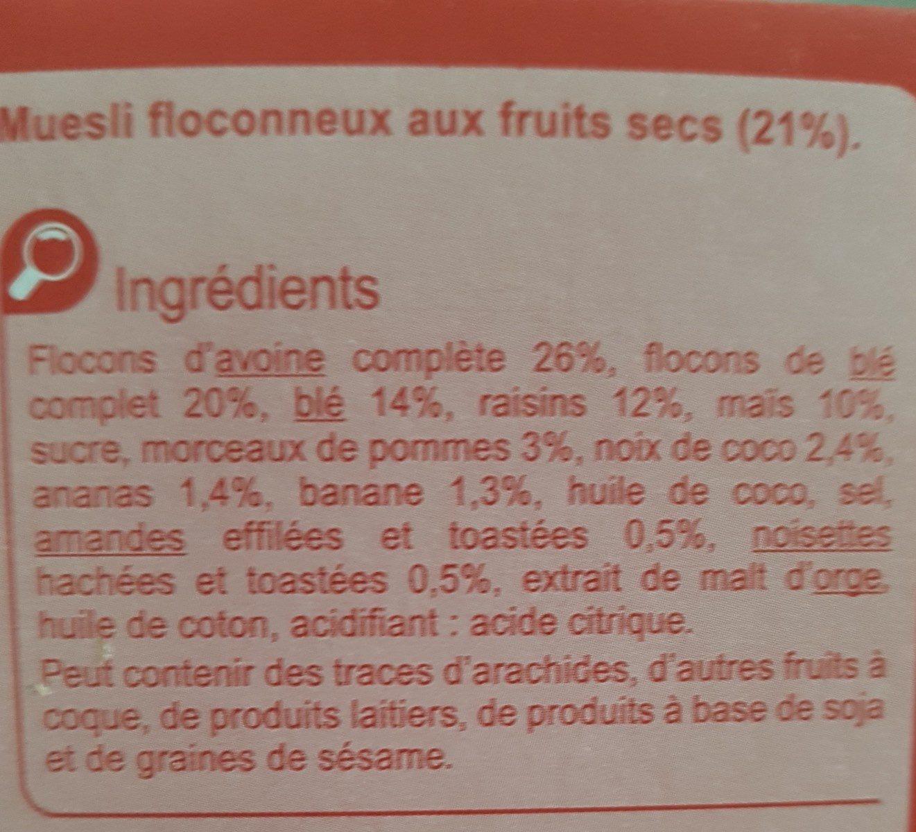 Muesli Floconneux - Ingrédients - fr