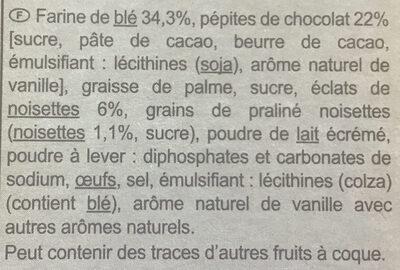 Cookies Choco Noisettes - Ingredientes - fr