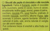 Cookies Choco Noisettes - Ingredienti