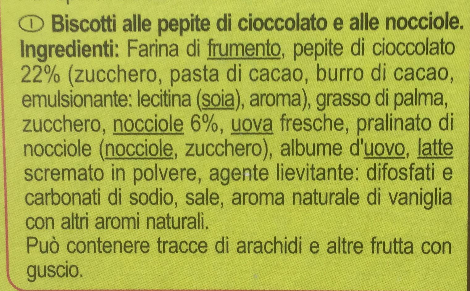 Cookies Choco Noisettes - Ingredienti - it