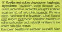 Cookies Choco Noisettes - Ingrediënten