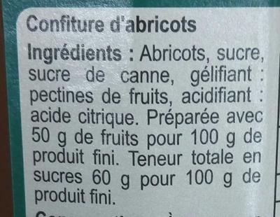 Abricot - Ingrédients - fr
