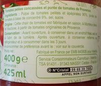 Pulpe de tomates de Provence - Ingredientes