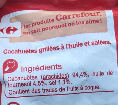 Cacahuètes Grillées Salées - Ingrédients