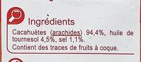 Cacahuètes Grillées Salées - Ingredients - fr
