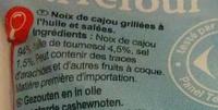 Noix de cajou grillées salées - Ingrédients - fr