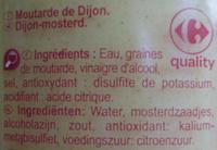Moutarde de Dijon - Ingrédients - fr