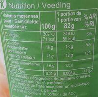 Abricots demi-fruits au sirop léger - Informations nutritionnelles - fr