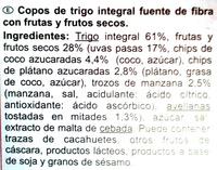 Fibra 5 Frutas y Frutos Secos - Ingredientes
