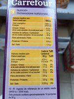 Fruit et fibre - Nutrition facts