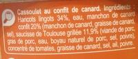 Cassoulet toulousain au confit de canard - Ingrédients - fr