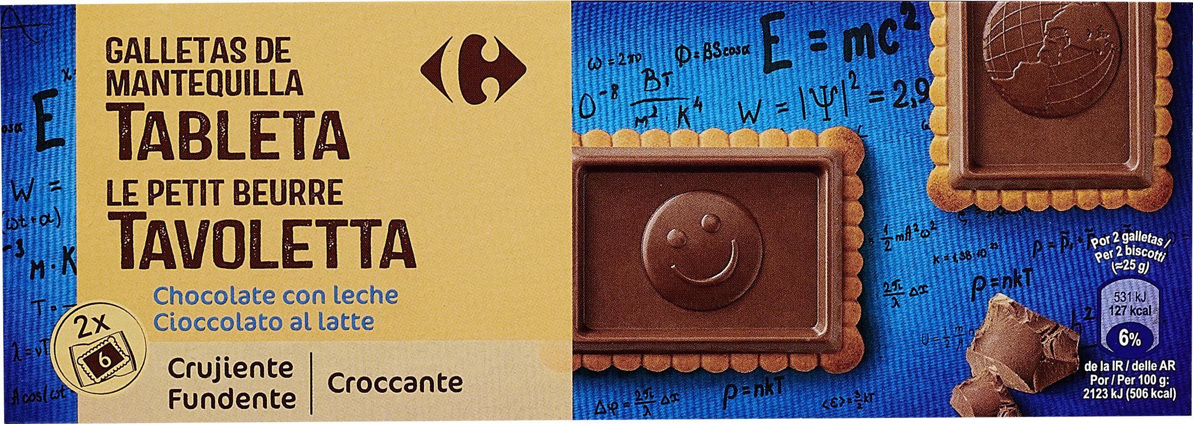 Galletas de mantequilla  tableta chocolate con leche - Produit - es