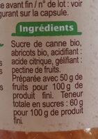 Confiture d'abricots au sucre de canne - Ingrediënten