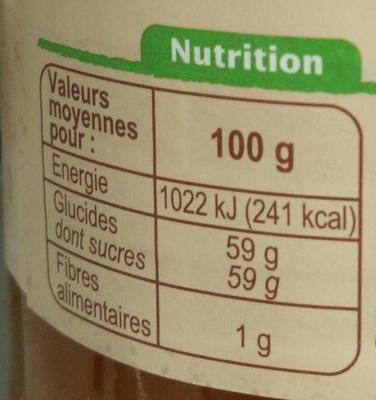Confiture d'abricots au sucre de canne - Voedigswaarden