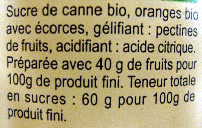 Confiture d'oranges au sucre de canne - Ingrédients - fr