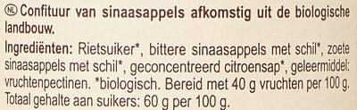 Confiture d'oranges au sucre de canne - Ingrediënten - nl