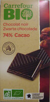 Chocolat noir 74% Cacao - Product - fr