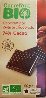 Chocolat noir 74% Cacao - Product - fr