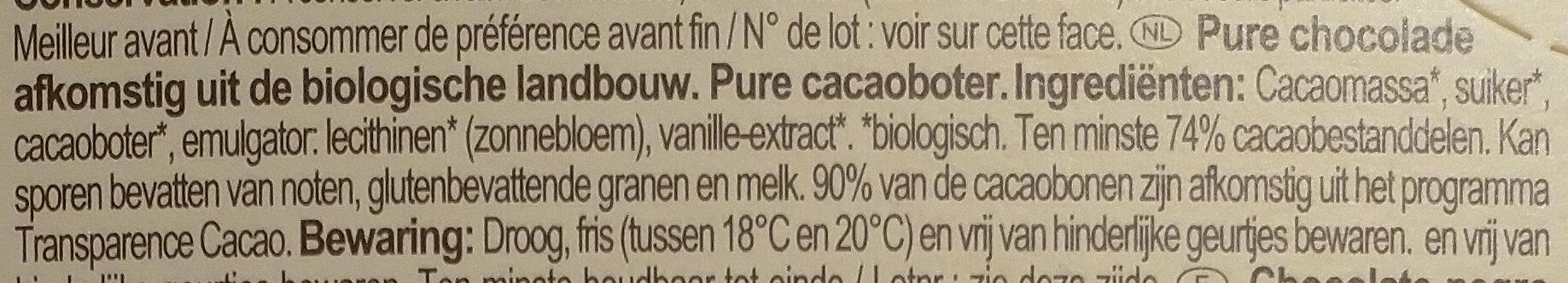 Chocolat noir - Ingrediënten - nl