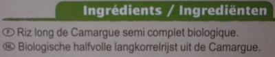 Riz de Camargue Semi-complet Bio - Ingredienti - fr