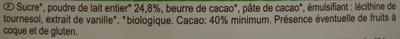 Chocolat au lait - Ingrediënten - fr