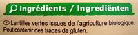 Lentilles vertes Bio - Ingrediënten - fr