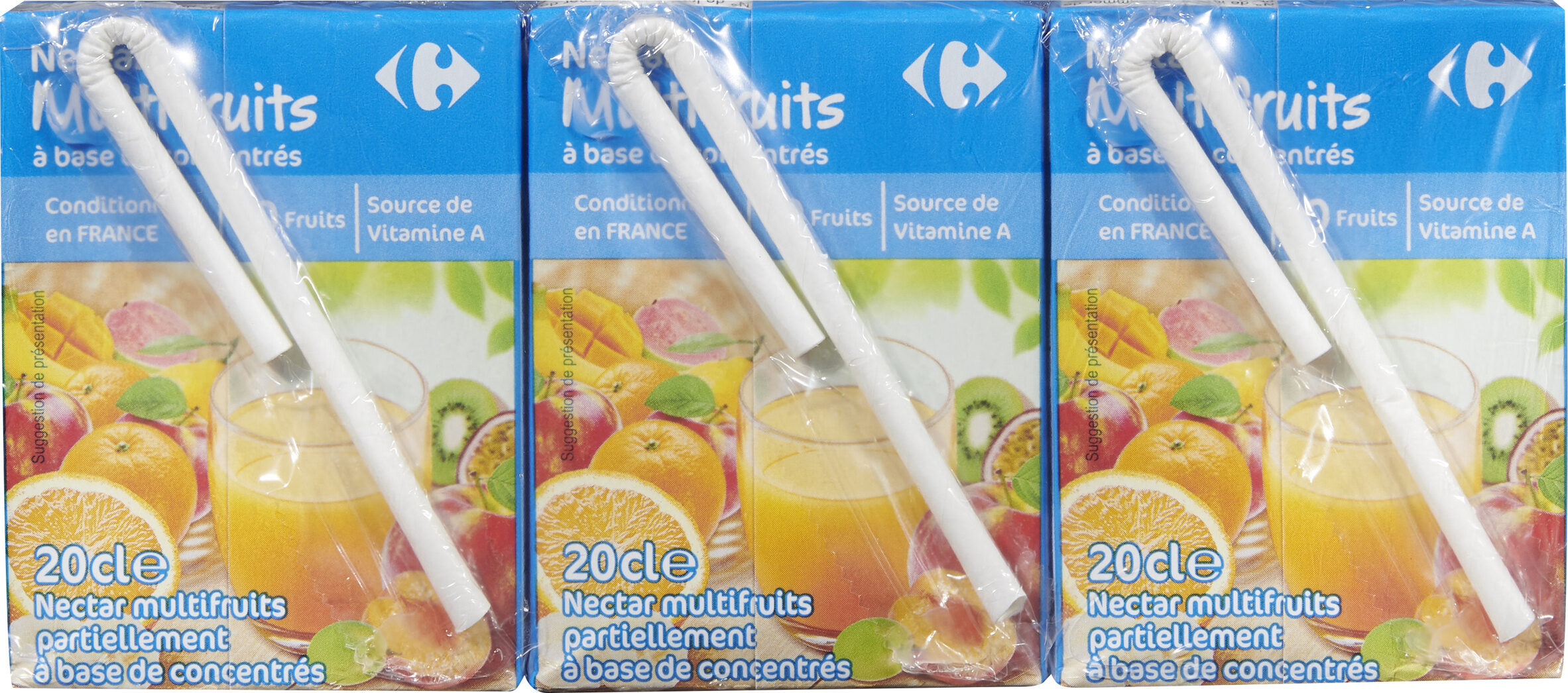 Multifruit, Nectar à base de concentrés - Produit - fr