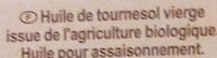 Huile vierge de tournesol bio - Ingredients - fr