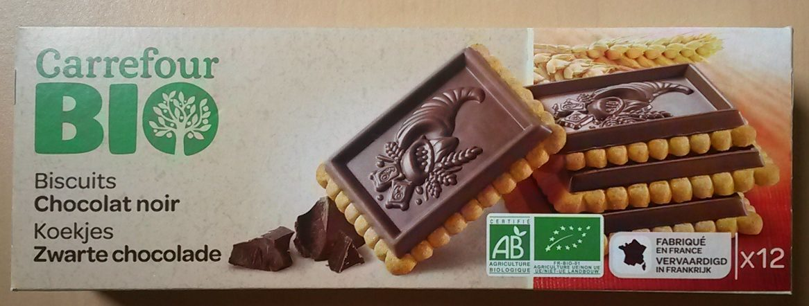 Biscuits Chocolat Noir Carrefour Bio 150 G