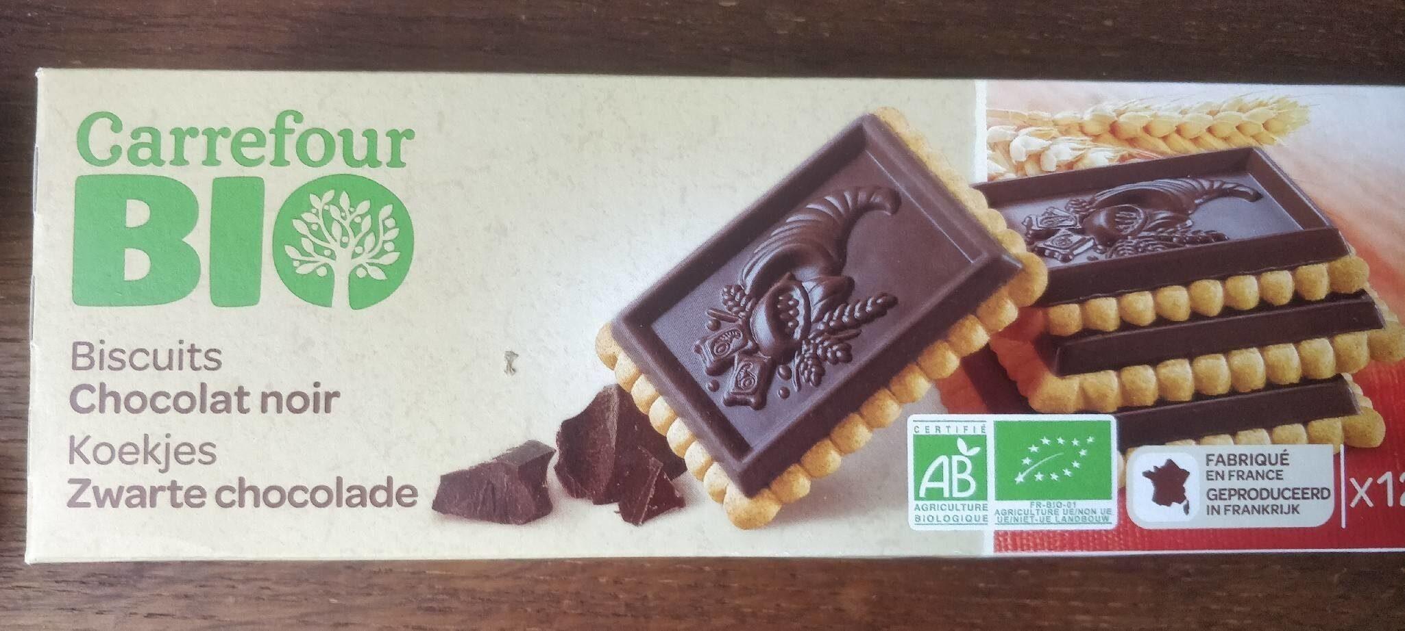 Carrefour Biscuits Chocolat noir BIO - Produit - fr