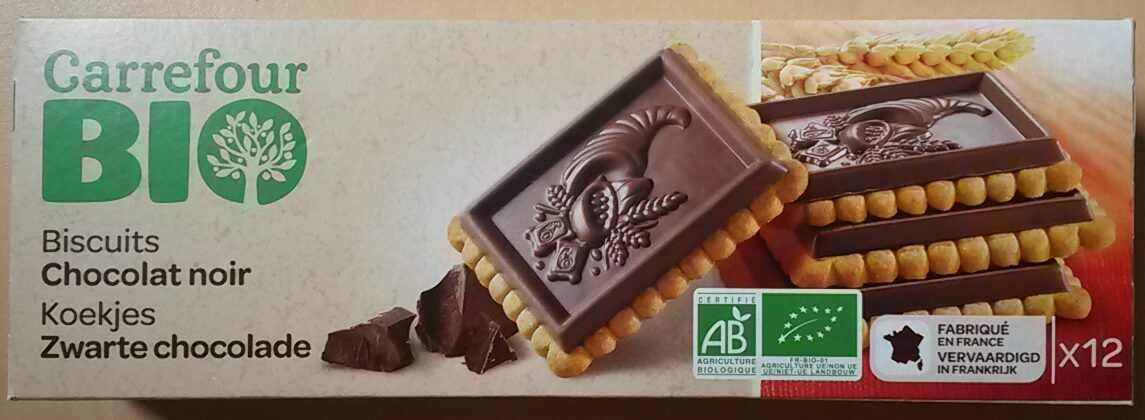 Carrefour Biscuits Chocolat noir BIO - Product - nl