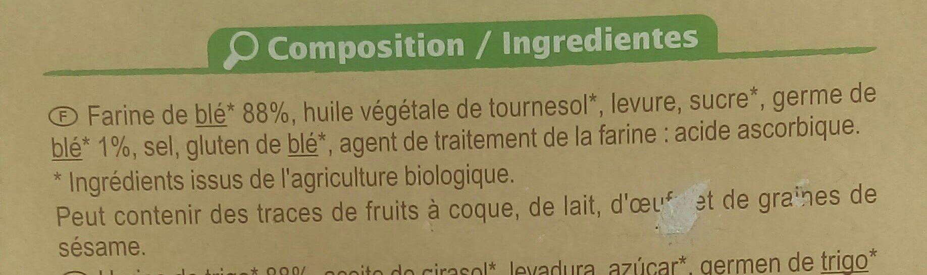 Biscottes bio Carrefour - Ingrediënten