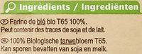 Farine de blé français Type 65 - Ingredienti - fr