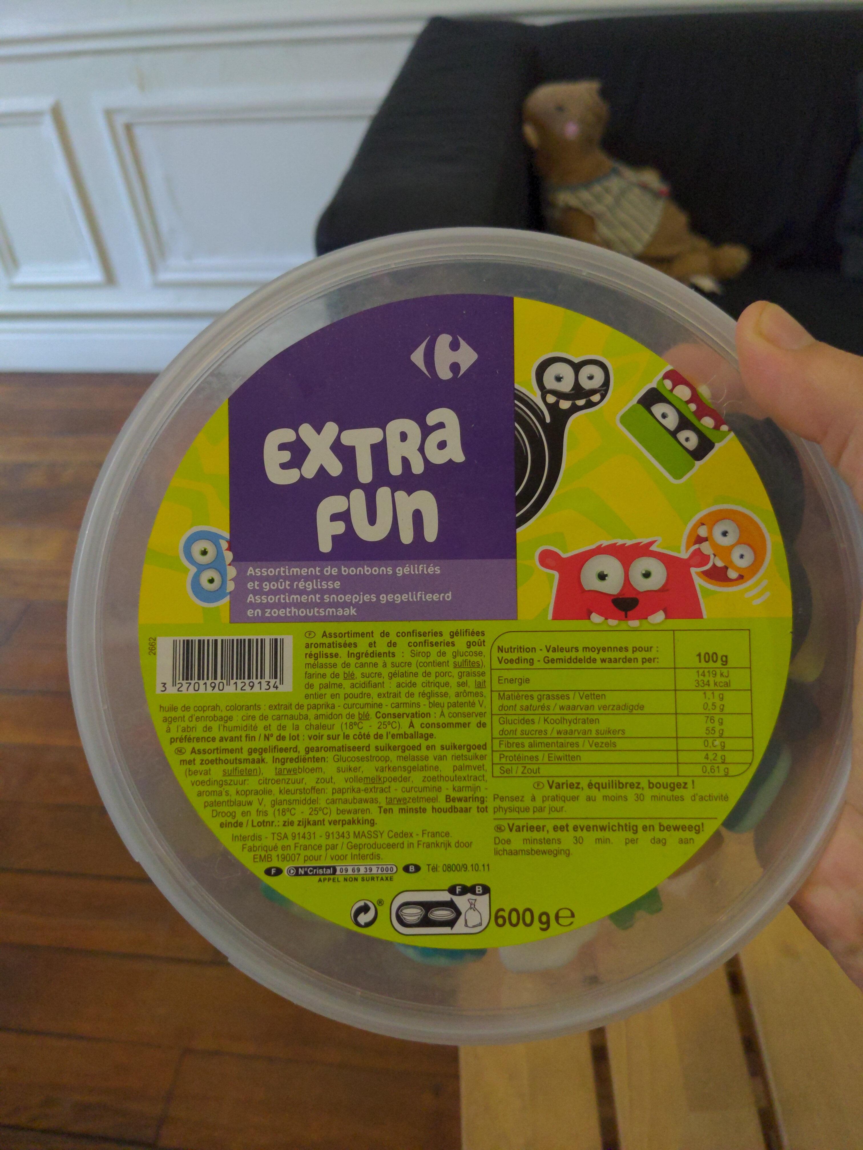 Extra fun - Ingrédients - fr