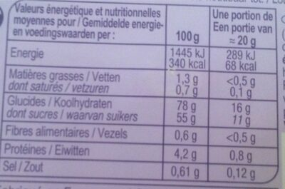 Extra fun - Nutrition facts
