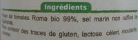 Pulpe de tomates Fraîches - Ingredientes